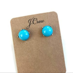Jcrew blue gem stud earrings